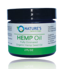 Nature's Salves Fully Ozonated 100% Organic Cold Pressed Unrefined HEMP SEED OIL - 2 Oz